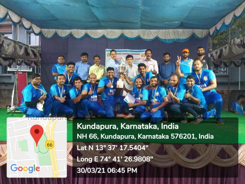 Staff cricket tournament 2020-21 Winners